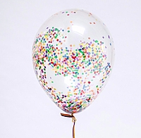 "Шар 14"" прозрачный с конфетти"