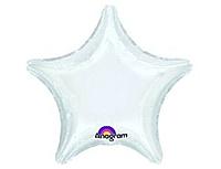 Шар 19'' (48см)  звезда пастель white