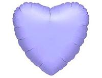 Шар 18'' (45см)  сердце пастель lilac