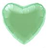Воздушный шар Шар 18'' (45см)  сердце пастель  Мятный,Сатин
