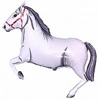 Шар 41'' (104см)  фигура     лошадь белый