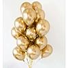 Воздушный шар Шар 12'' (30см)   хром золото