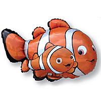 Шар 36'' (91см)  фигура     рыбаклоун оранжевый