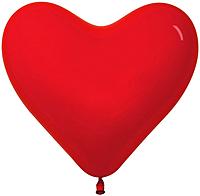 Шар 14'' (36см)  сердце     кристалл