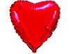 Воздушный шар Шар 18'' (45см)  сердце металлик red