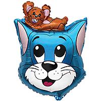Шар 27'' (68см)  фигура     кот синий