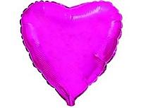 Шар 18'' (45см)  сердце металлик purple