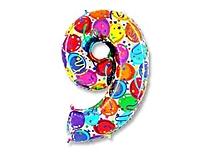 Шар 40'' (106см)  цифра    шары