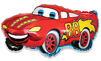 Шар 32'' (81см)  фигура     гоночная машина красный
