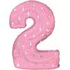 Воздушный шар Шар 42'' (106см)  цифра      в упаковке розовый