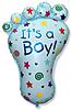 Воздушный шар Шар 35'' (88см)  фигура     ступня мальчика голубой