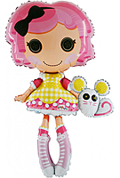 Шар 32'' (81см)  фигура     кукла маленькие пуговки