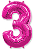 Воздушный шар Шар 40'' (106см)  цифра      фуше