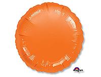Шар 18'' (45см)  круг металлик orange