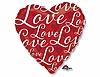 Воздушный шар Шар 18'' (45см)  сердце  love  красное