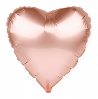 Шар 18'' (45см)  сердце металлик     розовое золото