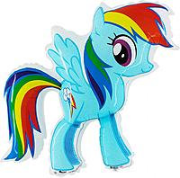 Шар 32'' (81см)  фигура     милая пони радуга