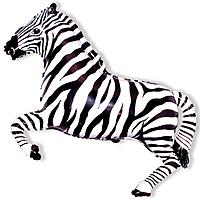 Шар 41'' (104см)  фигура     зебра черный