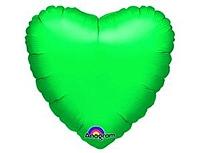 Шар 18'' (45см)  сердце металлик green