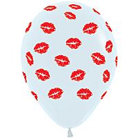 Шар 14'' (36см)     поцелуи   пастель