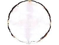 Шар 18'' (45см)  круг металлик silver