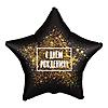 Воздушный шар Шар 21'' (53см)  звезда  с днем рождения золотая хлопушка