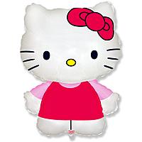 Шар 32'' (81см)  фигура     котенок с бантиком розовый
