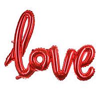 Шар 27'' (68см)  фигура металликнадпись love