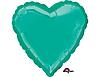 Воздушный шар Шар 18'' (45см)  сердце металлик teal