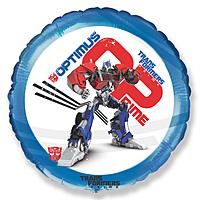 Шар 18'' (45см)  круг     трансформеры синий