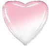Воздушный шар Шар 18'' (45см)  Сердце пастель градиент