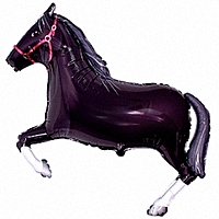 Шар 41'' (104см)  фигура     лошадь черный