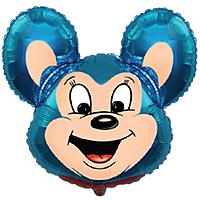 Шар 30'' (76см)  фигура     могучая мышь синий