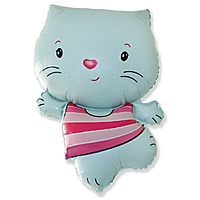 Шар 30'' (76см)  фигура     котенок голубой