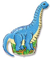 Шар 47'' (119см)  фигура     динозавр диплодок синий