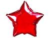 Воздушный шар Шар 18'' (45см)  звезда металлик red