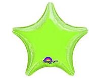 Шар 19'' (48см)  звезда металлик б рис   металлик limegreen