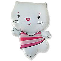 Шар 30'' (76см)  фигура     котенок белый