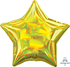 Воздушный шар Шар 19'' (48см)  звезда металлик  см  блеск золото