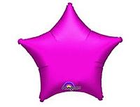 Шар 19'' (48см)  звезда металлик fuchsia