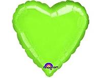 Шар 18'' (45см)  сердце металлик б рис   металлик limegreen