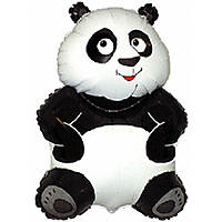 Шар 33'' (83см)  фигура     большая панда белый